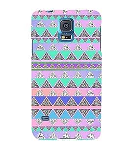EPICCASE Triangle pattern Mobile Back Case Cover For Samsung Galaxy S5 (Designer Case)
