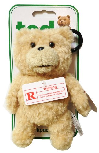 Ted Backpack Clip Mini-Plush w/ Sound (12 Phrases) - 1