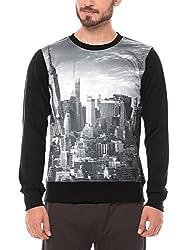 Shuffle Men's Poly Cotton Sweatshirt (8907423024342_2021518801_Large_Black)