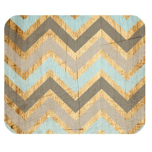 Vintage Wood Chevron Unique Custom Mouse Pad Mousepad