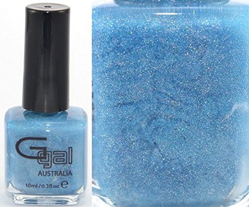 Glitter Gal Bright Blue Holographic 10 ML Nail Polish - Blue Suede Shoes 3D - 0.33 Fluid Ounce (10ml) Bottle