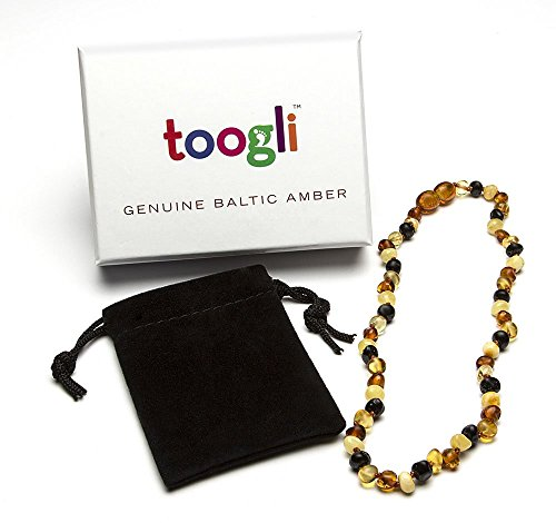Baltic Amber Teething Necklace by Toogli TM - Soothing Natural Pain Relief for Your Baby - Safety Clasp, FREE Teething Survival Guide Bonus Ebook - Certificate of Authenticity, Premium Packaging, Lifetime No Hassle 100% Money Back Guarantee - 1