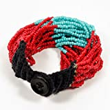 Izta Wrap Bracelet - Pueblo Red/Turquoise