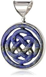 Sterling Silver Lapis Celtic Design Pendant