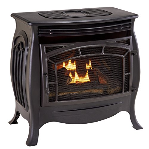 Duluth Forge Dual Fuel Vent Free Gas Stove - Model FDSR25, Matte Finish, Remote Control (Vent Free Stove Gas compare prices)