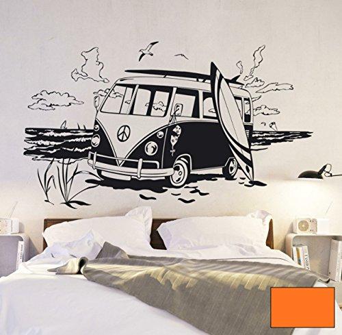 Graz-design-sticker-mural-dcoratif-en-forme-de-bus-bulli-surfbus-see-mer-plage-et-surfer-m1524-choix-de-couleur