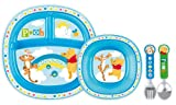 Munchkin - 051368 - Disney - Ensemble Repas Winnie - Bleu
