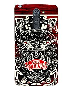 Fuson Premium Vans Off The Wall Printed Hard Plastic Back Case Cover for LG G3 Stylus D690
