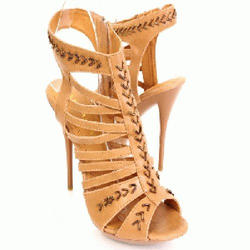 Liliana Women's Ashley-4 Taupe Nude Color Strappy