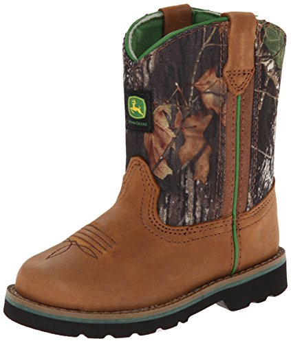 John Deere 1188 Western Boot (Toddler),Tan/Camouflage,4 M US Toddler