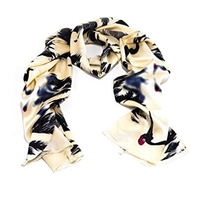Dancing Auspicious Cranes Scarf - X+Q for the V&A||RHFPR||EVAEX