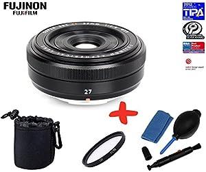 Bundle Fujifilm XF-27mm f2.8 Pancake Lens +39mm UV Lens Filter +Lens Pouch +Lens Cleaning Kit (suitable for X-Pro1 Xpro1 X-A1 XA1 X-A2 XA2 X-E2 XE2 X-M1 XM1 X-M2 XM2 X-T1 XT1 X-T10 XT10)