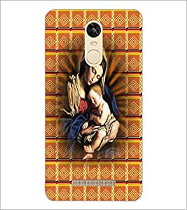 PrintDhaba Mother Merry D-4229 Back Case Cover for XIAOMI REDMI NOTE 3 (Multi-Coloured)