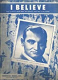 img - for Sheet Music 1953 I Believe Frankie Laine 19 book / textbook / text book