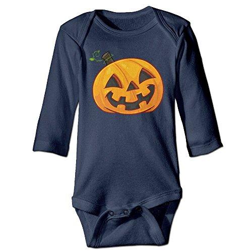[DELPT Halloween Pumpkin Cute Infant Baby's Climb Clothes 18 Months Navy] (Blue Ghost Pill Costume)