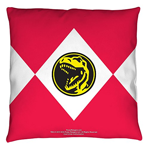 Power Rangers Red Ranger Throw Pillow White 26X26 (Power Ranger Bedroom Decor compare prices)