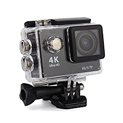 4K 16MP ULTRA HD WIFI H9 ACTION CAMERA 2INCH LCD WATRERPROOF - BLACK
