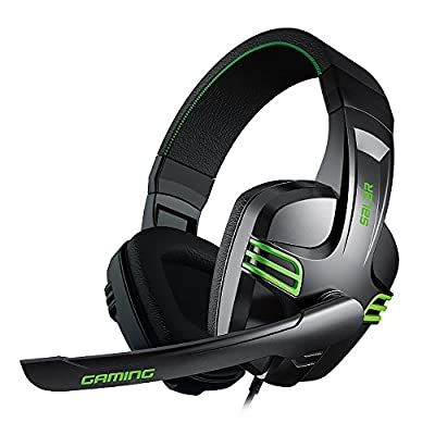 Ailihen KX-101 PC Gaming Headset, Stereo Sound, Over-ear Headphones with Volume and Mic Control, Adjustable Mic, Remote for PC, Laptops, Mobile