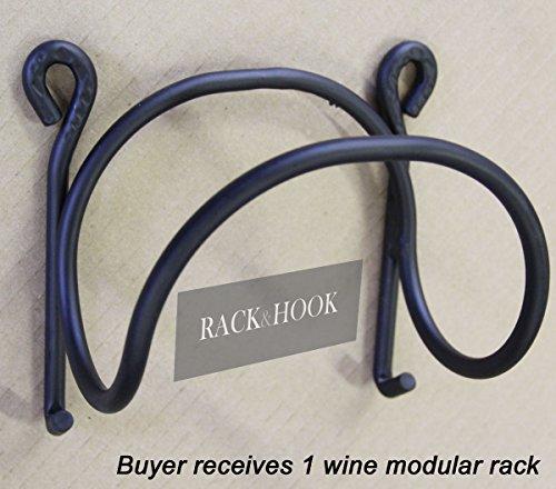 Wrought Iron Wine Rack Modular Wall Mounted Black Premium