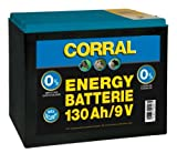 Corral - 130 Ah 9V Zinc-Carbon Dry Electric Fencing Battery