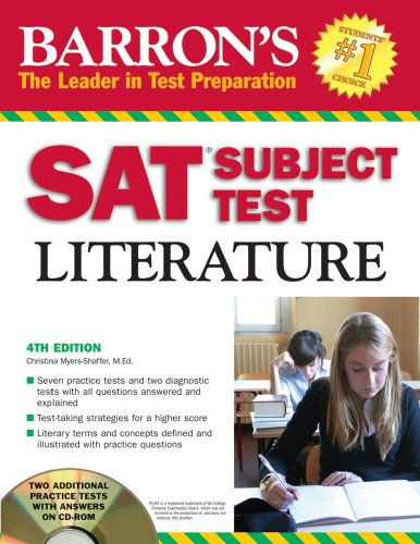 Barron's SAT Subject Test Literature with CD-ROM (Barron's SAT Subject Test Literature (W/CD))