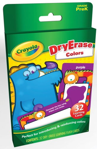 Dry Erase Colors Learning Cards (Crayola)