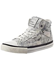 British Knights Women's Dee Off White And Light Grey Cotton Sneakers