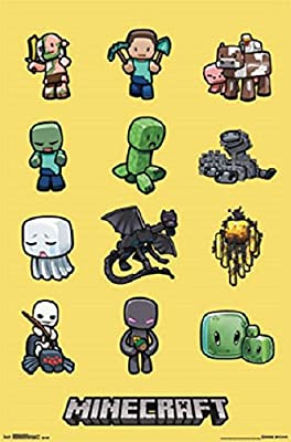 """Minecraft - Gaming Poster (Characters - Creeper & Friends) (Size: 24"""" x 36"""")"""