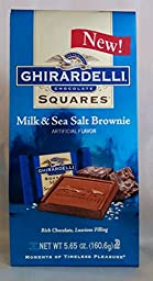 Ghirardelli Chocolate Squares Milk & Sea Salt Brownie 5.65 Oz /160.6g (Pack of 3)