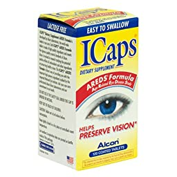 ICaps AREDS Formula Dietary Supplement Coated Tablets, 120-Count Bottles (Pack of 2)