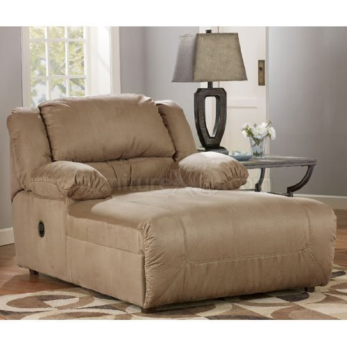 Ashley furniture hogan contemporary press back chaise big for Chaise furniture sale