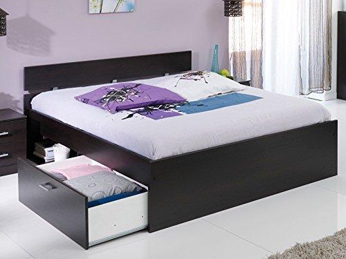 Jugendbett Inaco, verschiedene Größen, kaffeefarben, Bett + Bettkasten, Singlebett Doppelbett, Liegefläche:90 x 200 cm jetzt kaufen