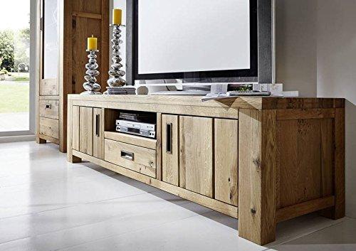 BOLZANO meuble TV #411 Chêne sauvage massif nature huilé