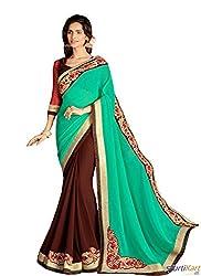 Pragya creations Women's Chiffon Saree (Prag07_Multi)