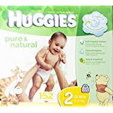 Huggies Pure and Natural Diapers, Size 2, 152 Count (Discontinued by Manufacturer)