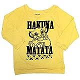 Disney The Lion King Womens' Hakuna Matata 3/4 Length Sleeve Raglan Pullover