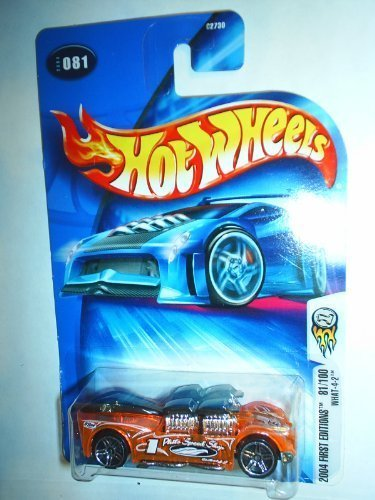 Mattel Hot Wheels 2004 First Editions 1:64 Scale Clear Orange What -4-2 Die Cast Car #081