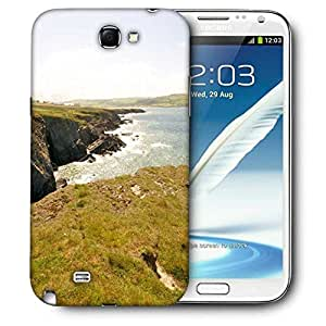 Snoogg Hill Side View Printed Protective Phone Back Case Cover For Samsung Galaxy Note 2 / Note II