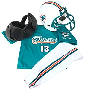 Miami Dolphins Kids/Youth Football Helmet Uniform Set - Small (Kids 4-6)