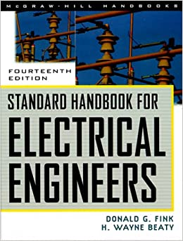 Standard Handbook For Electrical Engineers Donald G Fink