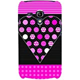 For Samsung Galaxy S3 Mini I8190 :: Samsung I8190 Galaxy S III Mini :: Samsung I8190N Galaxy S III Mini Nice Heart ( Nice Heart, Circle, Stripes, Polka, Pink Background ) Printed Designer Back Case Cover By FashionCops