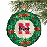 NCAA Nebraska Cornhuskers Glass Wreath Ornament at Amazon.com