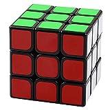 Casse-tête type Rubik's Cube 3x3x3. Belles couleurs vives montées sur un cadre noir. Le HERO CUBE est un cube magique rapide et résistant.