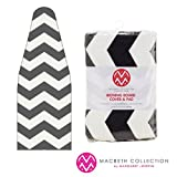 "The Macbeth Collection Ironing Pad and Cover - Frequent Use - 15"" x 54"" - Chevron Graphite"