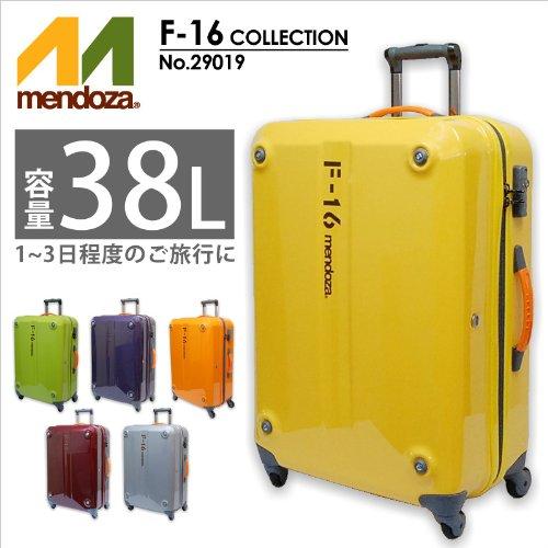 (メンドーザ) mendoza F-16シリーズ 4輪キャリーケース 38L  29019 (イエロー(19))