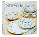 Laurie Gates 12 Piece Melamine Dinnerware Dinner Set Dishwasher safe