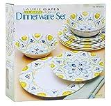 Laurie Gates 12 Piece Melamine Dinnerware Dinner Set Dishwasher safe