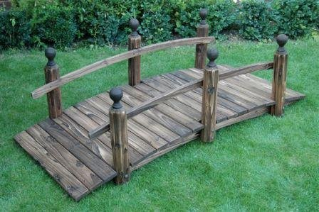WOODEN GARDEN BRIDGE/ GARDEN FURNITURE/ KOI POND BRIDGE
