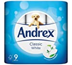 Andrex Classic White Toilet Tissue, 9...