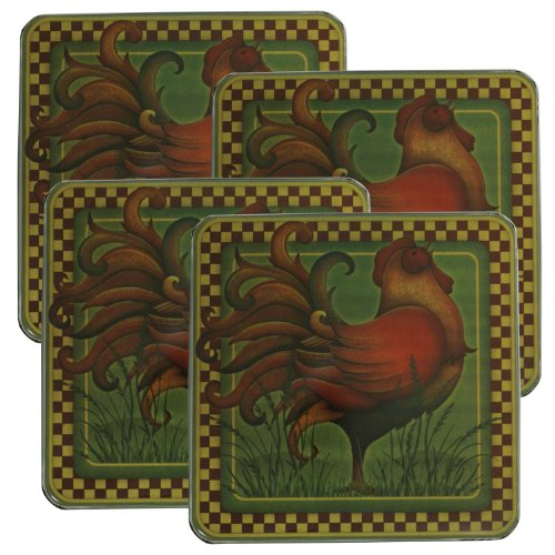 Range Kleen 5735 Set of Four Square Burner Kovers in a Rooster Pattern, 4-Pack at Sears.com